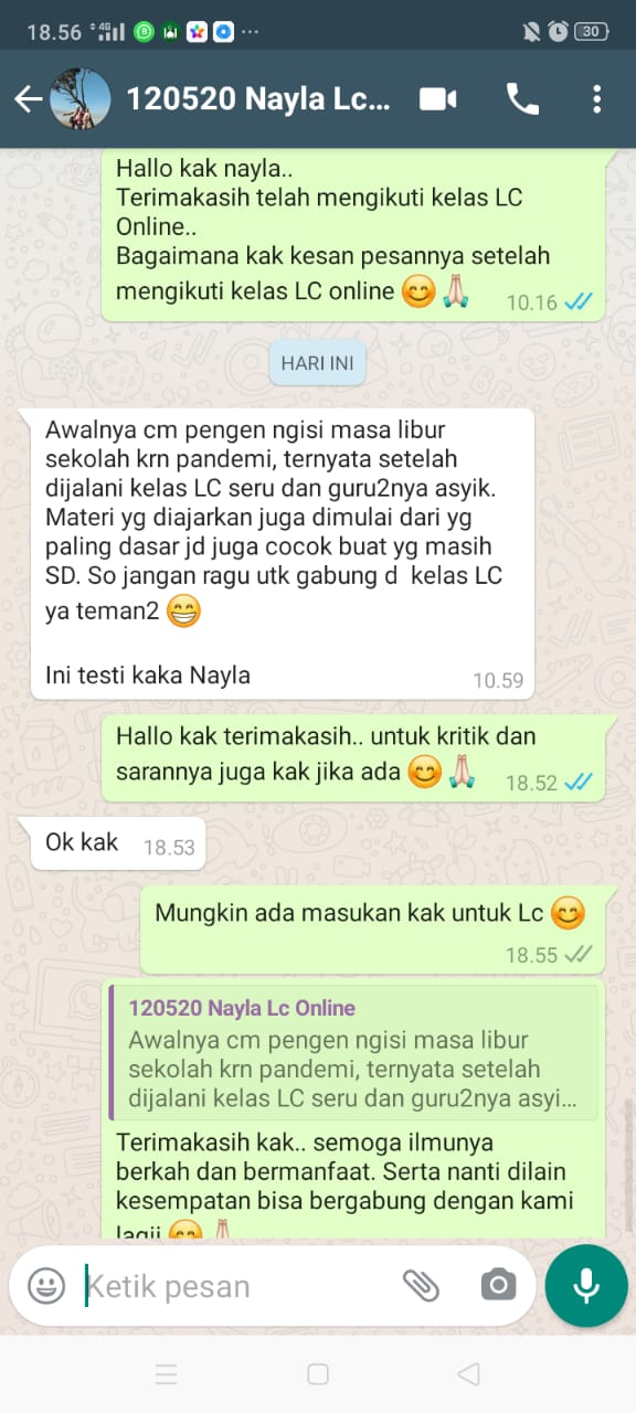testy lc online sukses